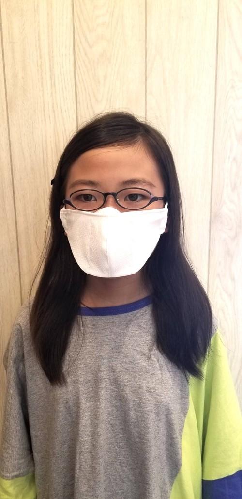 【Sサイズ】メガネマスク ホワイト