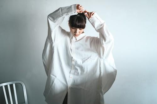 円環シャツ・長袖 レーヨン×コットン素材使用