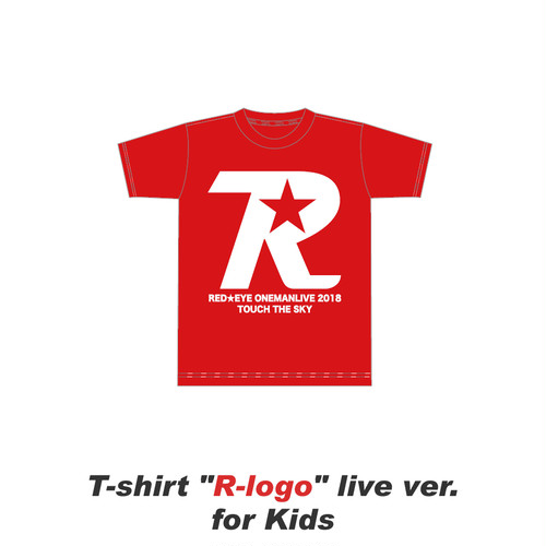R-logo live ver. for Kids / Tシャツ(Red)【数量限定】