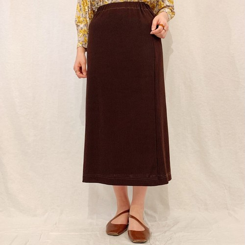 (LOOK) knit tight long skirt