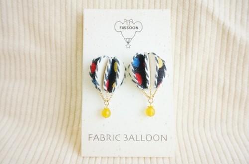 FABRIC BALLOON mini ピアス(semi circular)