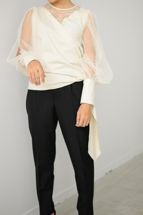 STAIR / tulle lace blouse