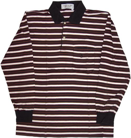 【S】 70~80s ジバンシィ 長袖ポロシャツ