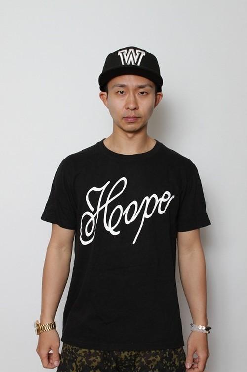 kyusHOPETシャツブラック×ホワイト