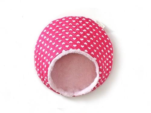 ハリちゃんのおやすみベッド(冬用) きらきらハート ピンク