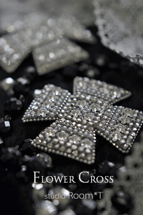 【Brooch】Flower Cross