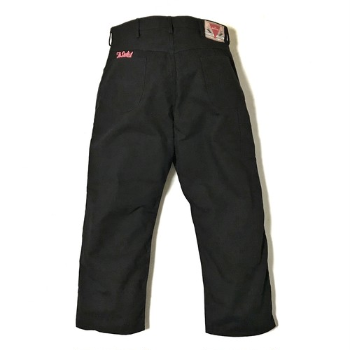"""DUCKTAIL CLOTHING PAINTER PANTS """"FROM BLACK TO PINK"""" ダックテイル クロージング ツイル ペインターパンツ"""