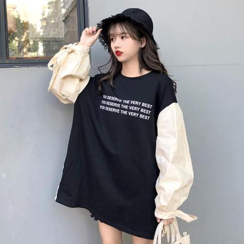 【お取り寄せ商品】リボン袖ロングシャツ 6925