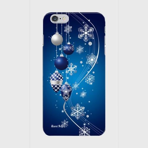 【iPhone6Plus/6sPlus】Winter Holiday Royal Blue ウィンター・ホリデー ロイヤルブルー ツヤありハード型スマホケース