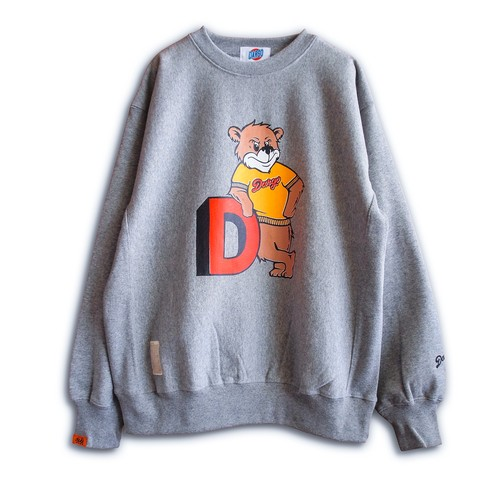 "【DARGO】""College Bear"" Heavy Weight Sweat Shirt (HEATHER GRAY)"