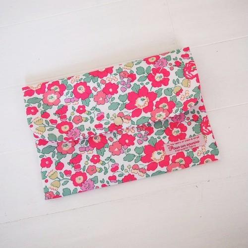 リバティ 母子手帳ケース ベッツィ/ピンク&ゴールド Lサイズ