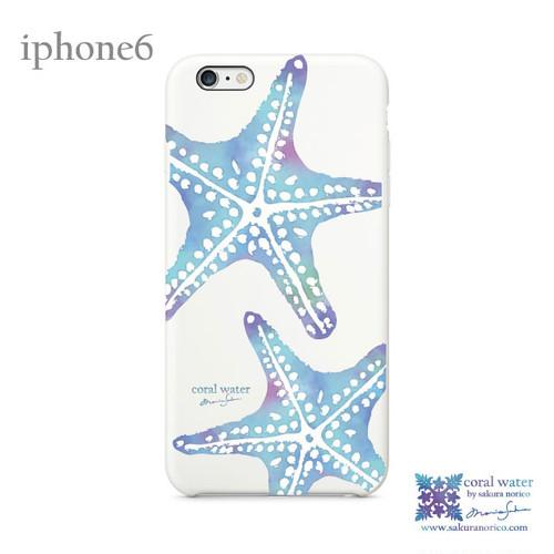 【アウトレット】iphone6カバー (スターフィッシュ 水彩ブルー)