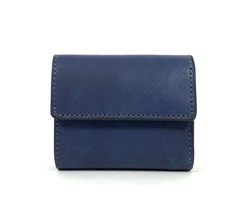 RE.ACT Solid Indigo Three Fold Compact Wallet