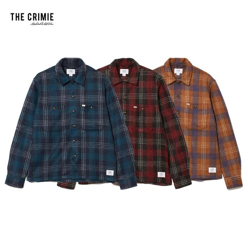 CRIMIE / CR1-02L5-KN04 / CHECK SHAGGY KNIT SHIRT