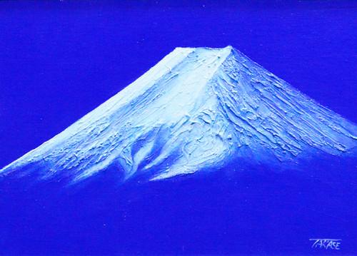 高瀬忠一「富士山(河口湖)」油彩画 F4号
