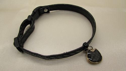 カーボンレザー 猫用首輪