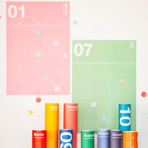 """Poketo """"Spectrum Wall Planner"""" ウォールプランナー・カレンダー・ポスター"""