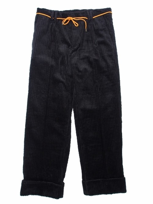 WIDE WALL CORDS PANTS BLACK