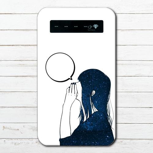 モバイルバッテリー おすすめ iPhone Android おしゃれ 男性 向け スマホ 充電器 タイトル:あのね。②(白) 作:7.7.4(ナナシ)