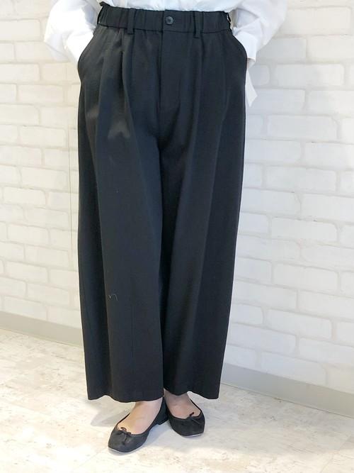cafune/135601/リラックスタックパンツ(ブラック)
