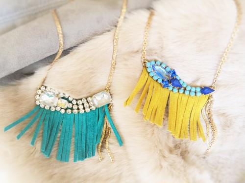 vintage necklace bijou fringe <NC-FRB1/2>