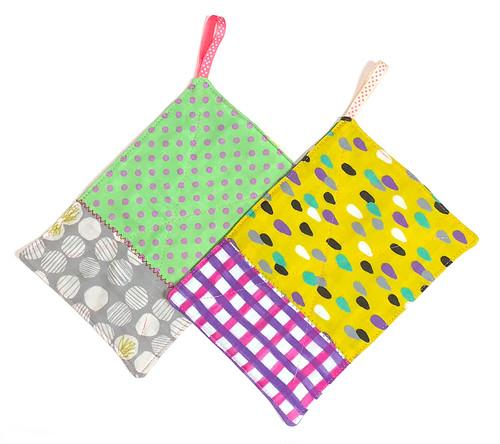 カラフルmixダブルガーゼ ふきん 台布巾 ぞうきん 雑巾 2枚セット_N