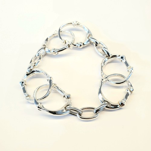 bone shaped carabiner bracelet.-S-