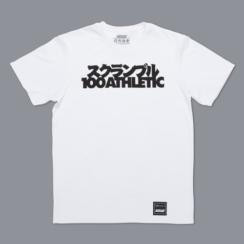 SCRAMBLE X 100ATHLETIC TEE – WHITE
