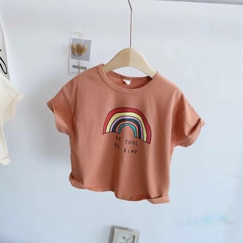 RAINBOW Tシャツ テラコッタ【T070】