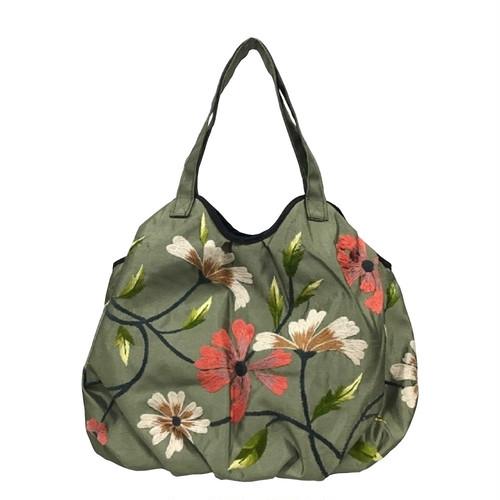 ベトナムバッグ シルク 刺繍 トートバッグ 肩掛け 鞄 ベトナム雑貨