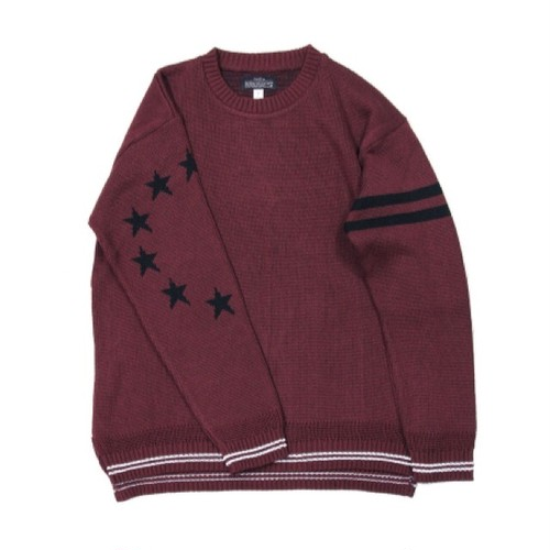 quolt / STAR KNIT / BURGUNDY