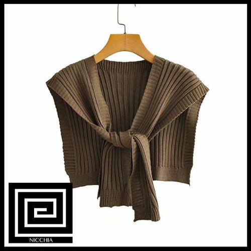 タイショールニットセーター