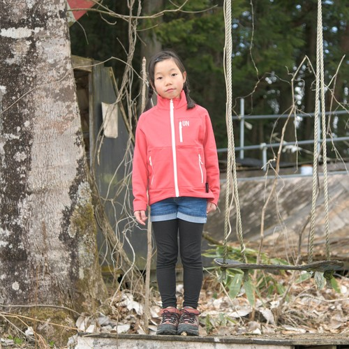 Kids 130 / UN3000 Mid weight fleece Jacket / Red