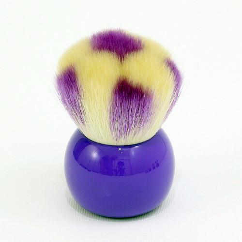 サッカーボール パウダーブラシ 紫