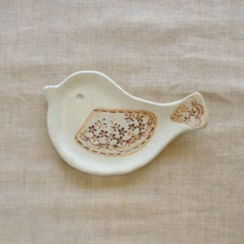 小鳥の豆皿(バニラA)