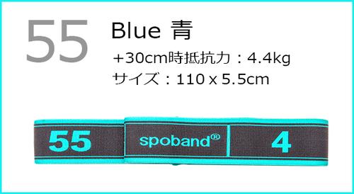 スポバンド 55 青