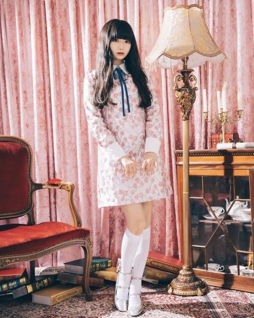 【ManonMimie】Cherry Jacquard Dress