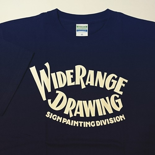 "T-SHIRT ""WIDERANGE DRAWING"" ネイビー"