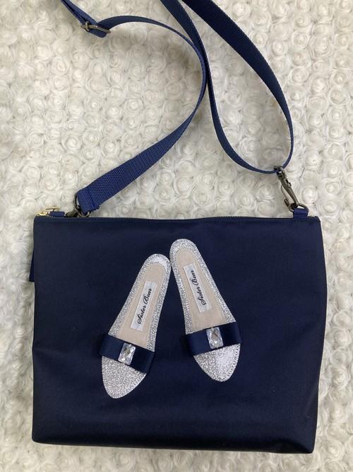 ショルダー 紺ツイル シルバー靴①