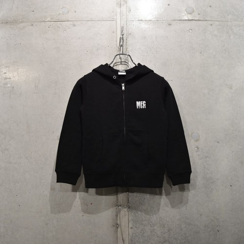 MFC STORE LOGO EMBROIDERY KIDS ZIP HOODED / BLACK