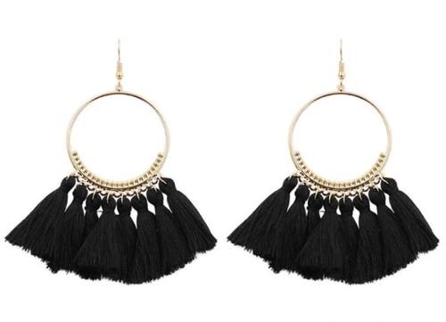 fringe hoop pierce/black