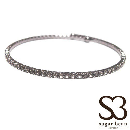 Sugar Bean Jewelry シュガービーンジュエリー アメリカ の シングル クリスタル バングル single bangle black smork スモーク メッキ セール 海外 ブランド