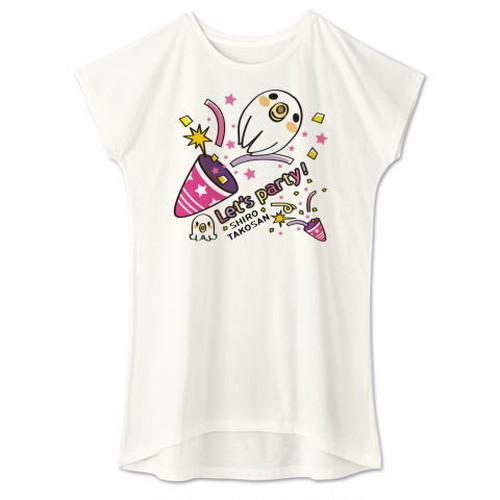 キャラT59 たこさんwinなー 白たこさんパーティ_C *ワンピースタイプ Tシャツ