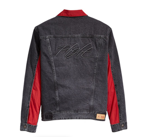 Air Jordan x Levi's Reversible Trucker Jacket Black/Red