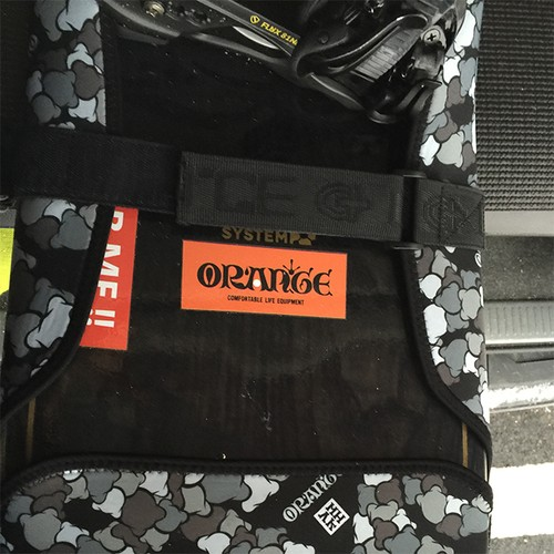 #149915_ORAN`GE logo sticker_ORANGE