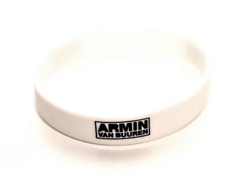 ARMIN VAN BUUREN - NEW LOGO シリコンリストバンド(ホワイト)