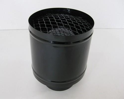 ホクアイ ホーロー煙突ブラック Pトップ φ106