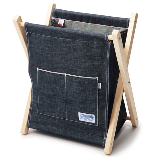 INTERBREED SELVEDGE SUPPLY INDIGO MAGAZINE RACK