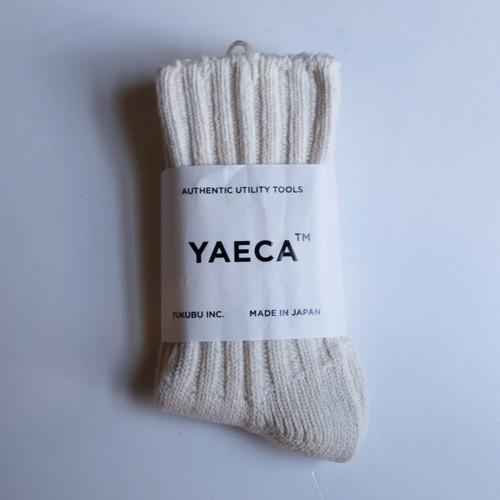 YAECA / ヤエカ COTTON100% SOCKS NATURAL