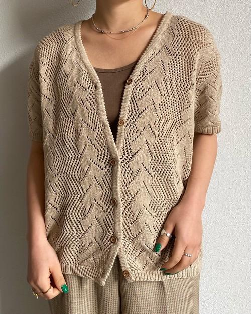 (PAL) s/s crochet cardigan